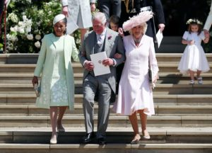 Prince Charles, Camilla and Doria leave the church