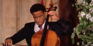 Sheku Kanneh-Mason performing at the Royal wedding
